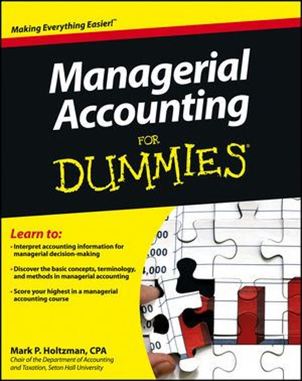 تصویر Managerial Accounting For Dummies