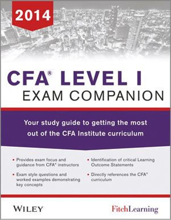 تصویر CFA level I Exam Companion: The Fitch Learning/Wiley Study guide to getting the most out of the CFA Institute Curriculum