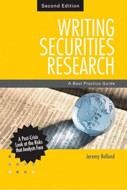 تصویر Writing Securities Research: A Best Practice Guide, 2nd Edition
