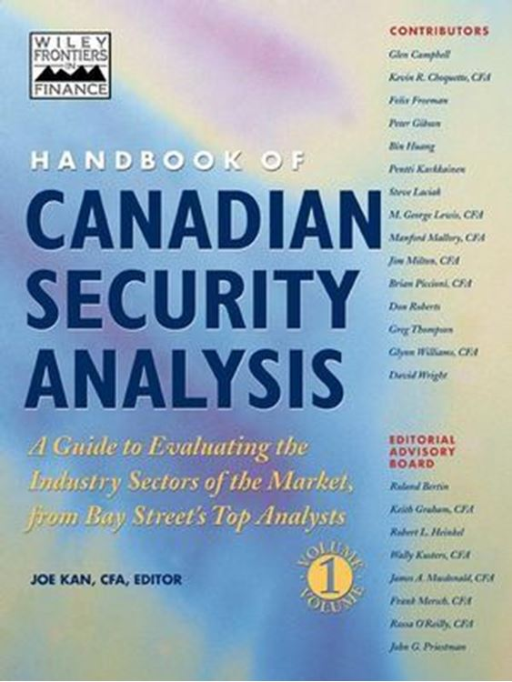 تصویر Handbook of Canadian Security Analysis, Volume 1, Handbook of Canadian Security Analysis Vol 1: A Guide to Evaluating the Industry Sectors of the Market, from Bay Street's Top Analysts