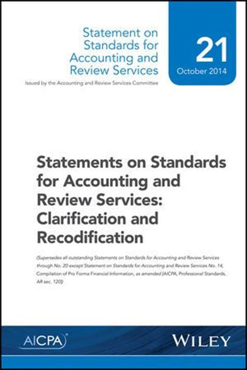 تصویر Statements on Standards for Accounting and Review Services: Clarification and Recodification